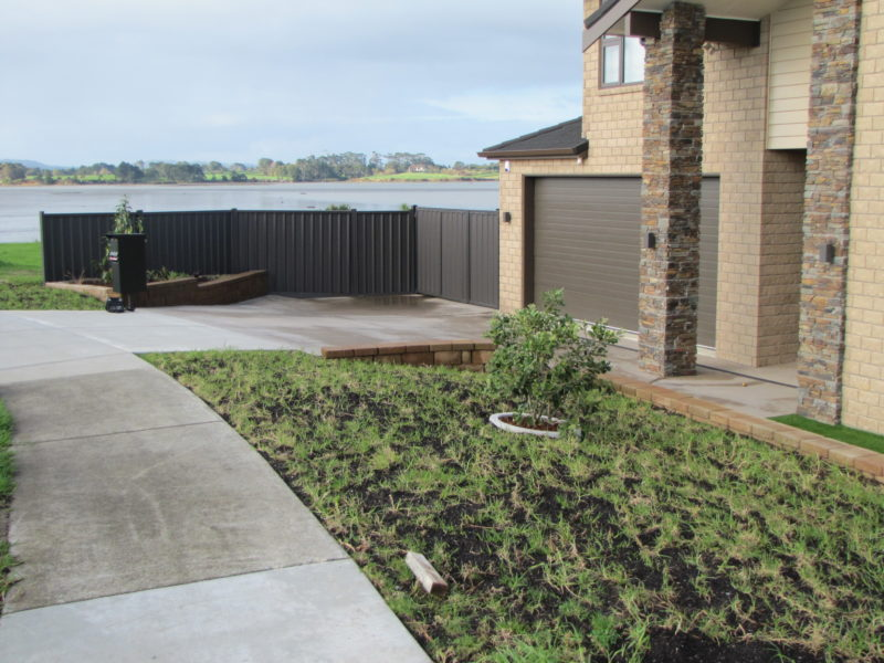 Colour Steel Boundary Fences — Frontline Fencing NZ