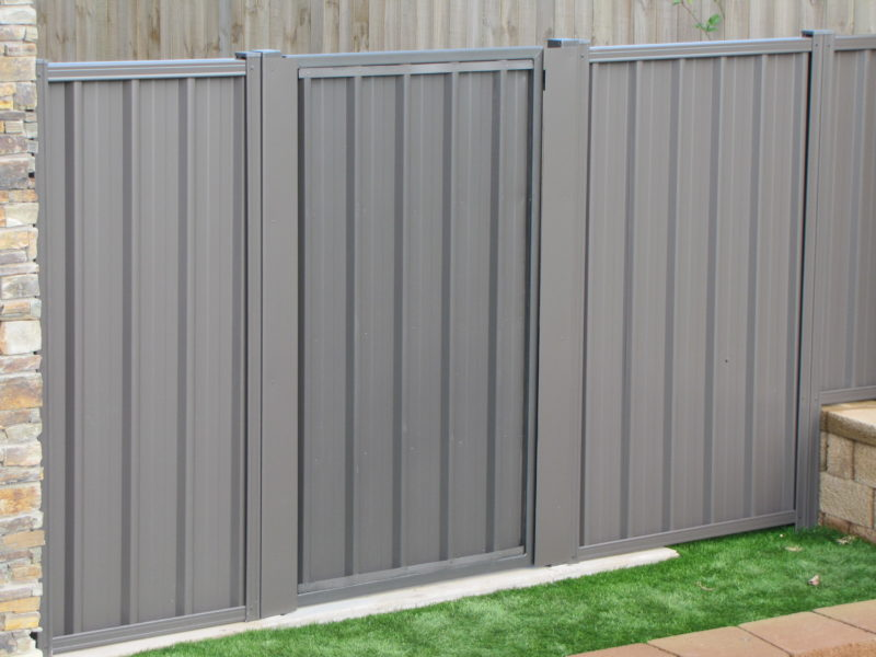 Colour Steel Boundary Gates Frontline Fencing Nz